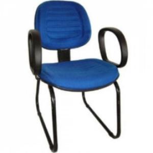 CAD - 10 Cadeira Para Escritório Executiva Esk Com Lamina Costurada e Braço Estofada Varias Cores