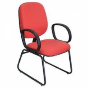 CAD - 11 Cadeira Para Escritório Diretor Esk Com Lamina e Braço Estofada Varias Cores