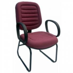CAD - 13 Cadeira Para Escritório Diretor Esk Costurada Com Lamina e Braço Estofada Varias Cores