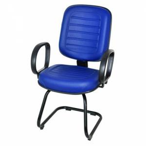 CAD - 14 Cadeira Para Escritório Diretor S Costurada Com Lamina e Braço Estofada Varias Cores