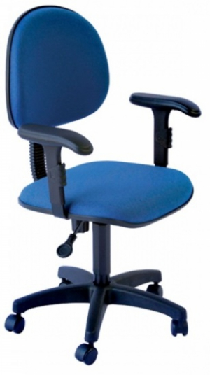 CAD - 23 Cadeira Para Escritório Executiva Giratoria Com Braço Estofada Varias Cores