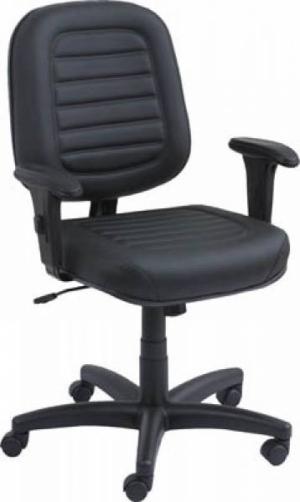 CAD - 33 Cadeira De Escritório Diretor Costurada Giratória Com Braço Regulavel Estofada  Varias Cores