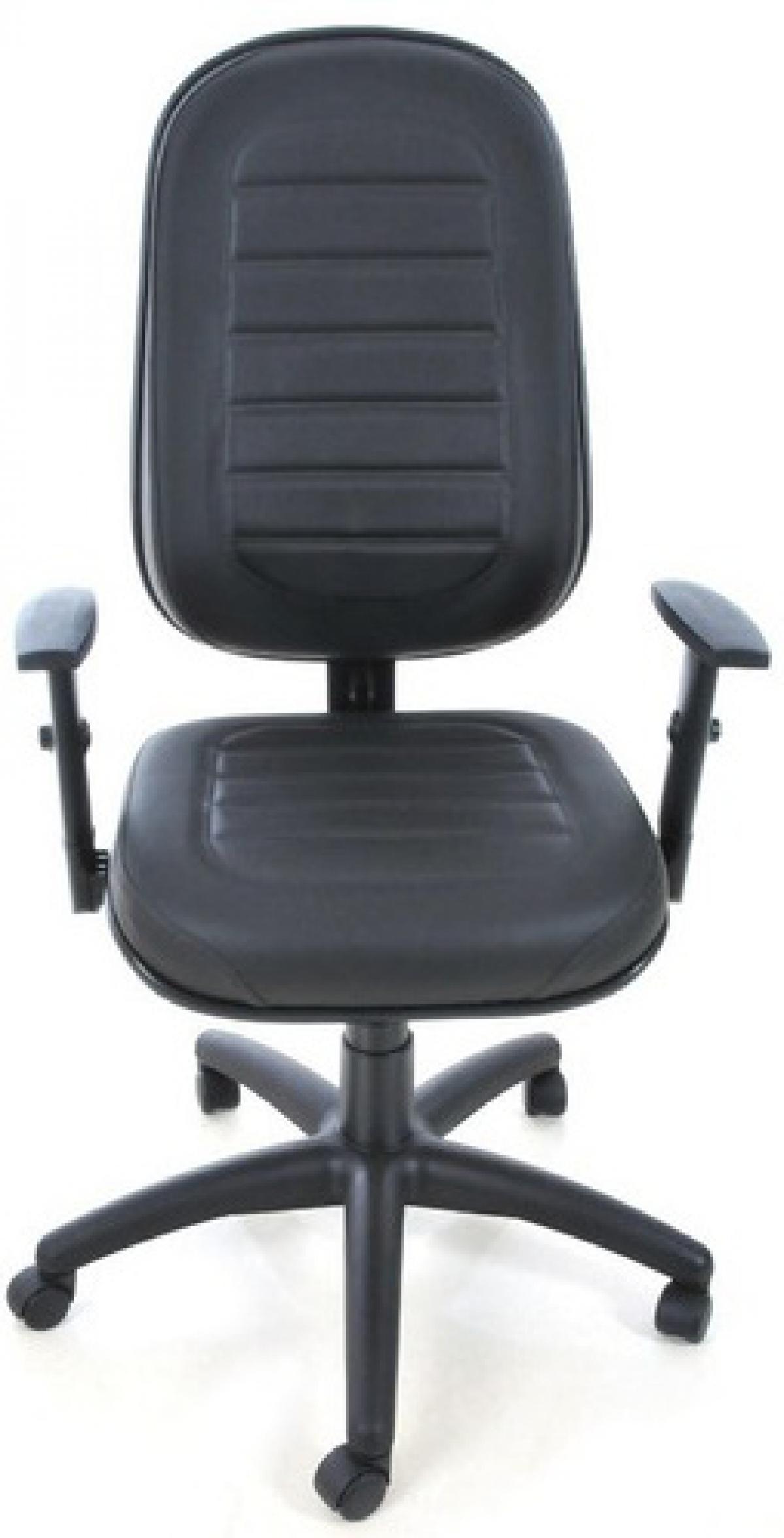 CAD - 34 Cadeira De Escritório Presidente Costurada Giratória Com Braço Regulavel Estofada Varias Cores