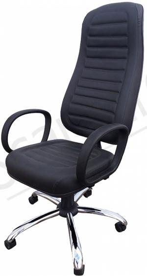 CAD - 36 Cadeira Para Escritório  Presidente Costurada Giratória Com Braço Estofada Com Relax Varias Cores