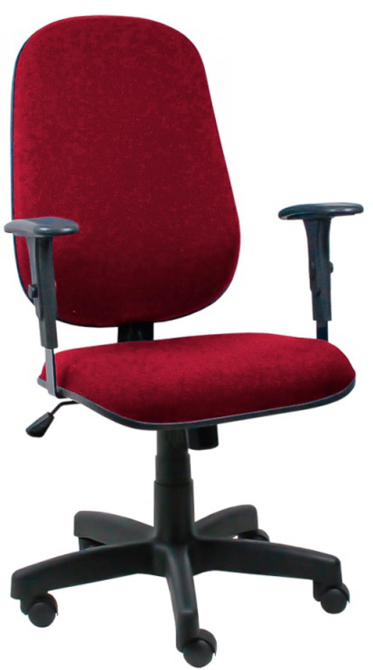 CAD - 39 Cadeira De Escritório Presidente Giratória Com Braço Estofada Varias Cores