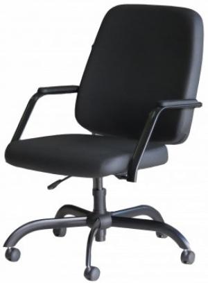 CAD - 42 Cadeira Para Escritório Presidente Giratória Com Braço Estofada Suporta Ate 150 kg