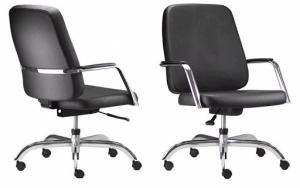 CAD - 43 Cadeira Para Escritório Presidente Giratória Com Braço Cromado Estofada  Suporta Ate 150 kg