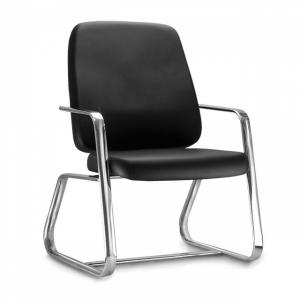 CAD - 15 Cadeira De Escritório Obeso Base Esk Cromada Estofada Varias Cores