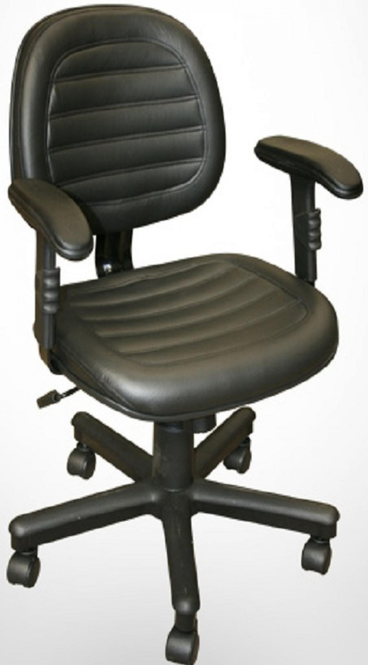 CAD - 48 Cadeira Para Escritório Executiva Costurada Com Braço Giratoria Estofada Varias Cores