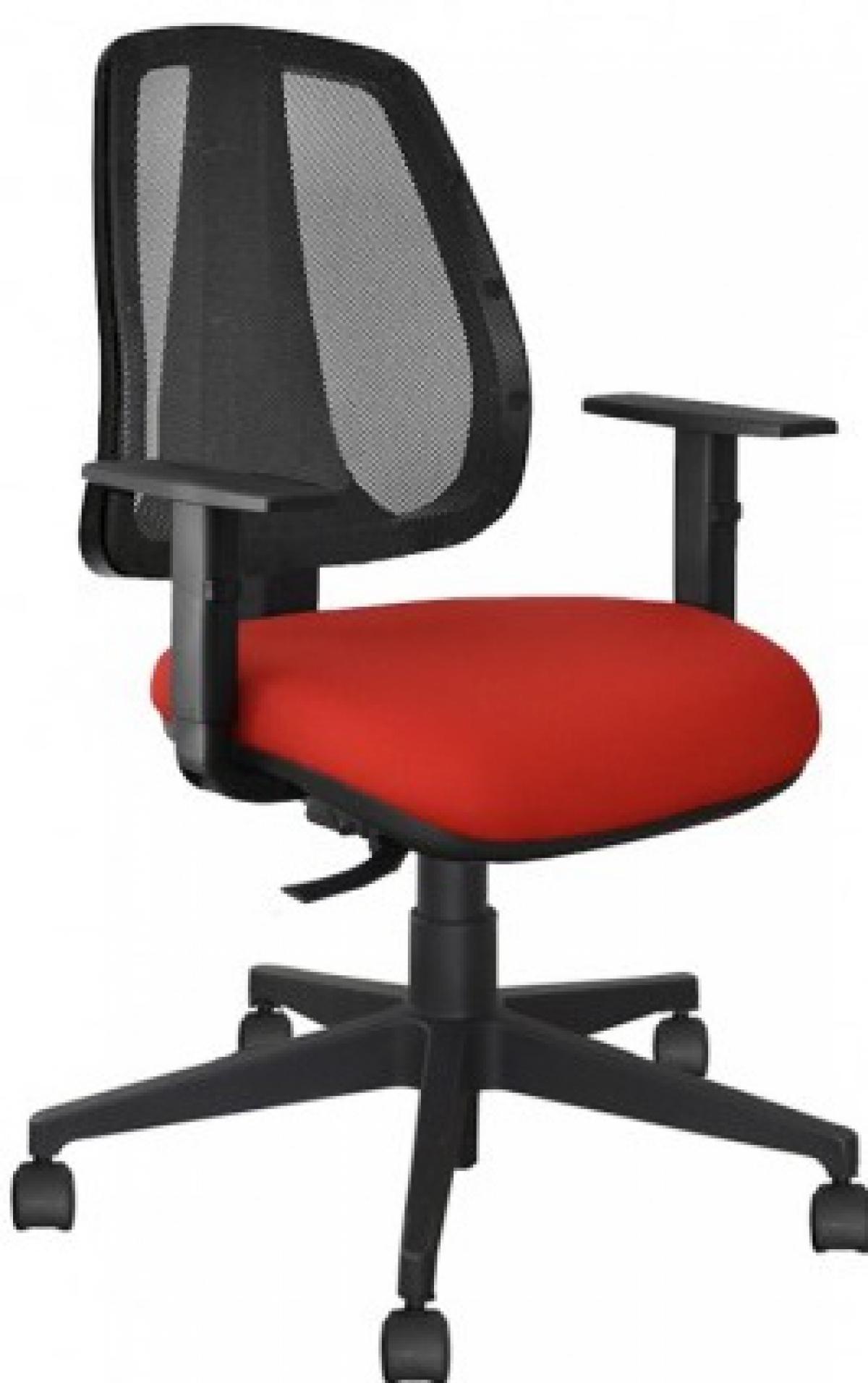 CAD - 50 Cadeira Para Escritório Blak System Estofada Mech