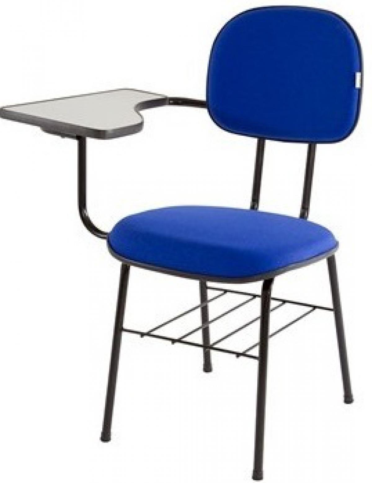CAD - 51 Cadeira Univérsitaria Escolar Estofada Varias Cores
