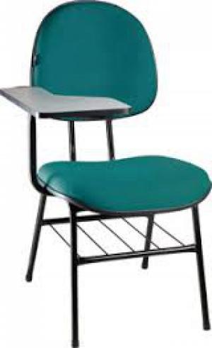 CAD - 52 Cadeira Univérsitaria Escolar Executiva Estofada Varias Cores