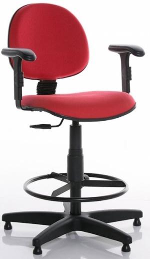 CAD - 58 Cadeira Caixa Para Escritório Estofada Executiva Com Braço Varias Cores