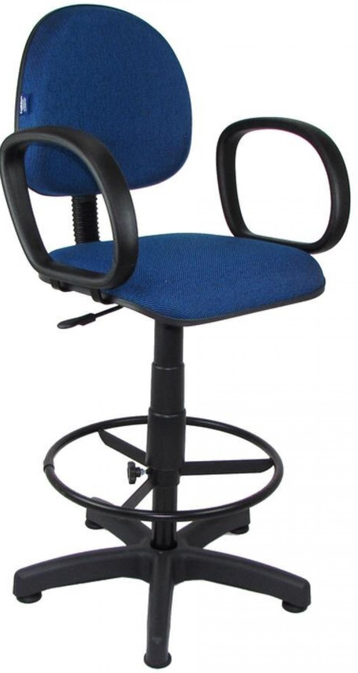 CAD - 59 Cadeira Caixa Para Escritório Estofada Executiva Com Lamina e Braço Varias Cores