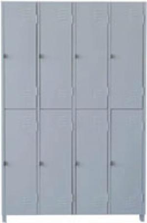 AÇO-01 -197x123x040 Roupeiro Para Vestiario De Aço Com 08 Portas Grandes Com Pitão Para Cadeado
