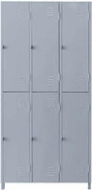 AÇO-02 -197x093x040 Roupeiro Para Vestiario De Aço Com 06 Portas Grandes Com Pitão Para Cadeado
