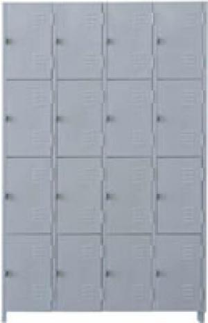 AÇO-05 - 197x123x040 Roupeiro Para Vestiario De Aço Com 16 Portas Pequenas Com Pitão Para Cadeado