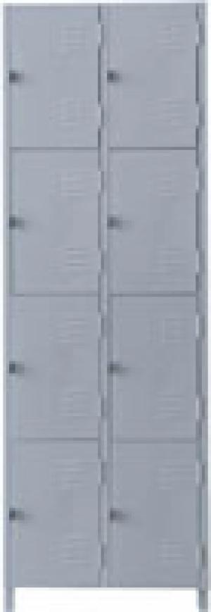 AÇO-07 -197x063x040 Roupeiro Para Vestiario De Aço Com 08 Portas Pequenas Com Pitão Para Cadeado