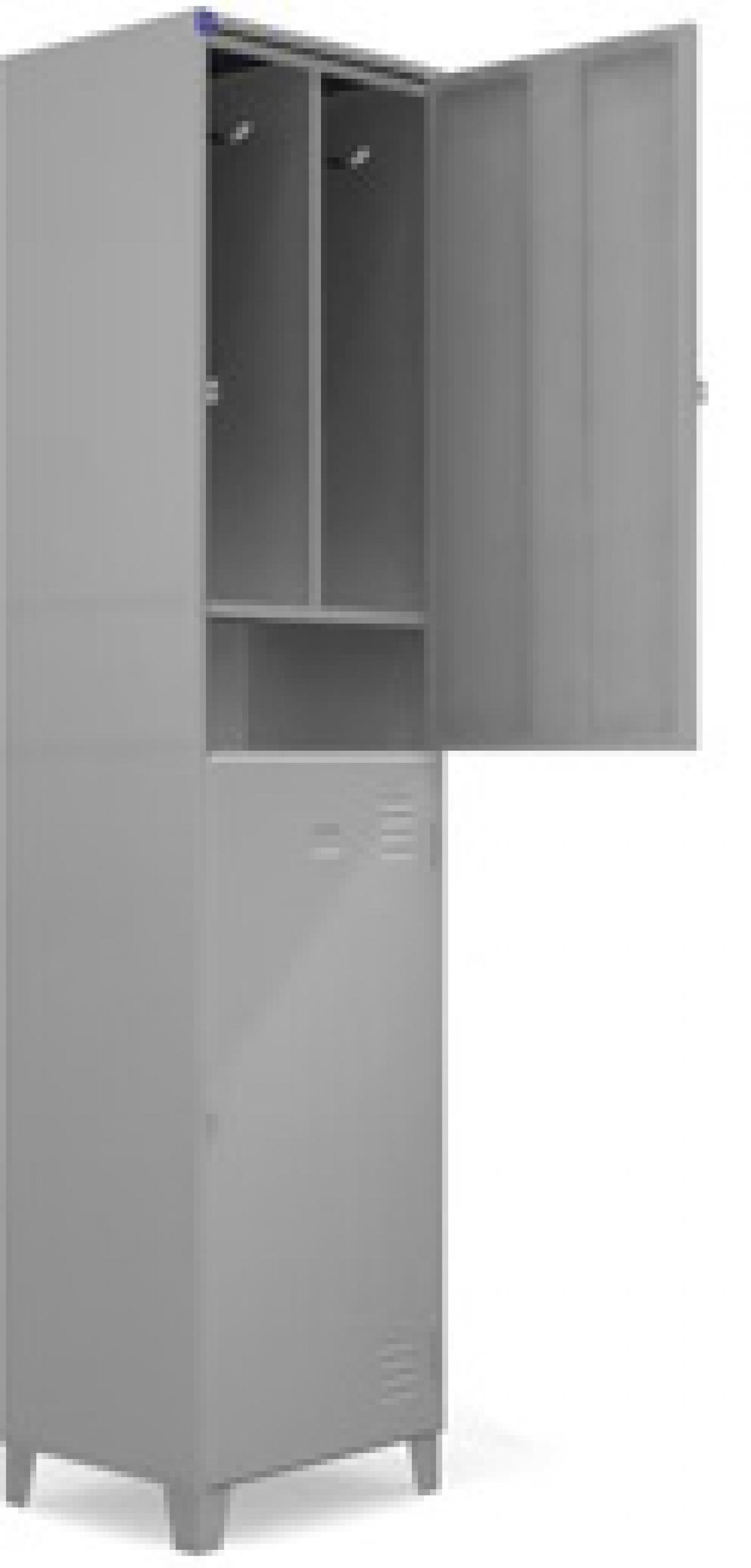 AÇO-12 -197x050x040 Roupeiro Para Vestiario De Aço Com 02 Portas Grandes Com Sapateira Com Pitão Para Cadeado