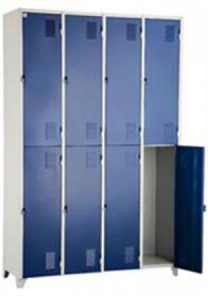 AÇO-15 -197x123x040 Roupeiro Para Vestiario de aço colorido Azul/Preto/Braco/Vermelho Com Pitão Para Cadeado