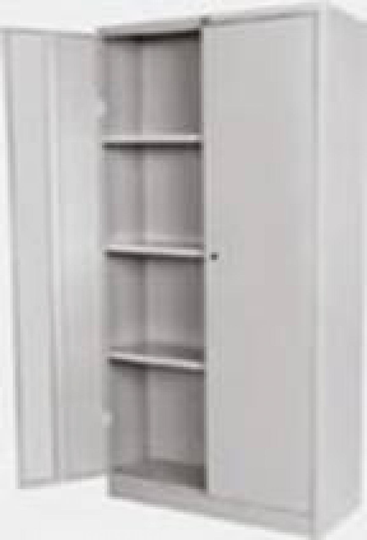 AÇO-16 - 170x075x035 Armario Para Escritorio De Aço Porta De Abrir Com 03 Prateleira e Chave