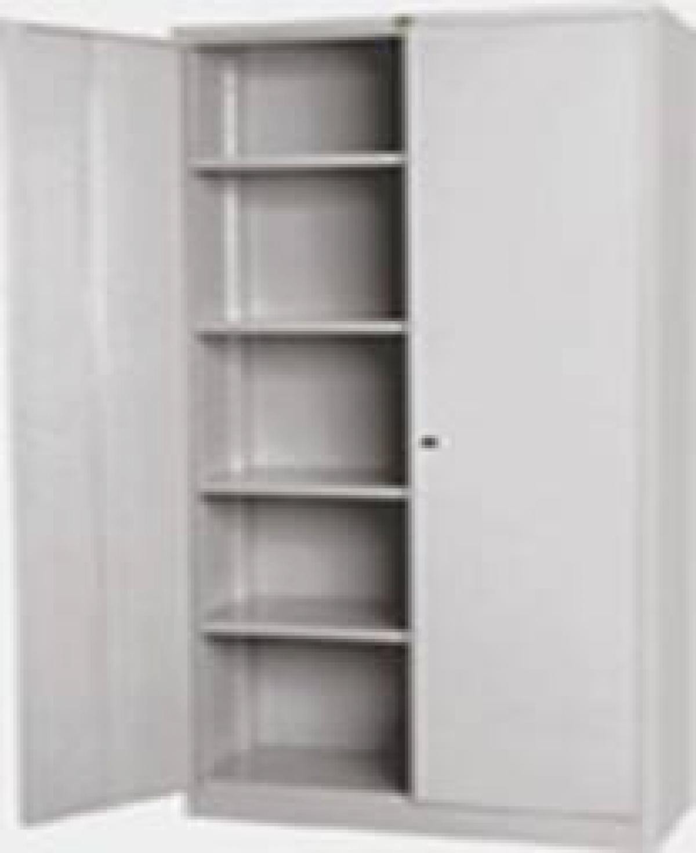 AÇO-18 -195x120x045 Armario Para Escritorio de aço porta de abrir Com 04 Prateleira e Com Chave Chapa 24 Chapa 22