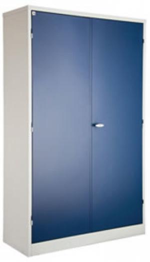 AÇO-19 - 195x090x040 Armario Para Escritorio de aço porta de abrir Com 04 Prateleira e Com Chave colorido azul/preto/branco vermelho