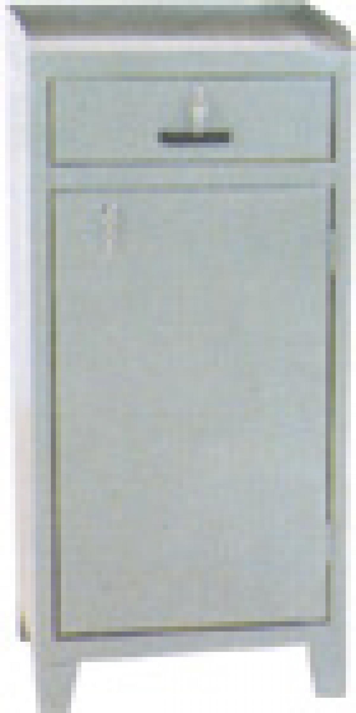 AÇO-29 - 100x045x040 Armario De Escitorio Em Aço Para Ferramenta Com 01 Porta E 01 Gaveta Com Chave Individual