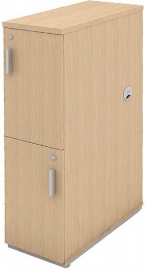 AR - 40 - 109x030x062 Armario Para Escritorio Torre Fechado 02 Portas Plus Varias Cores