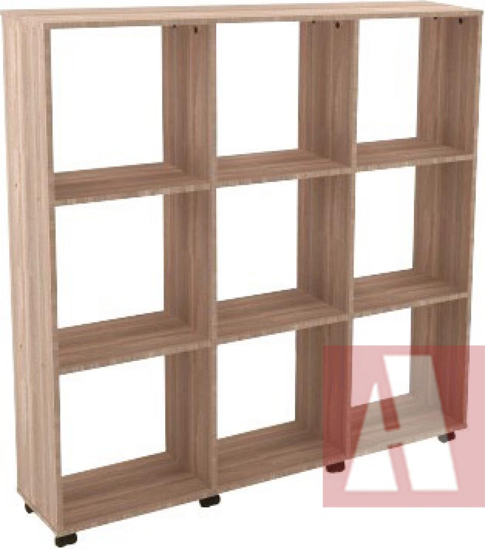 AR - 56 - 133x123x030 Estante Para Escritorio em madeira C/ Rodizio 03 vão Varias Cores