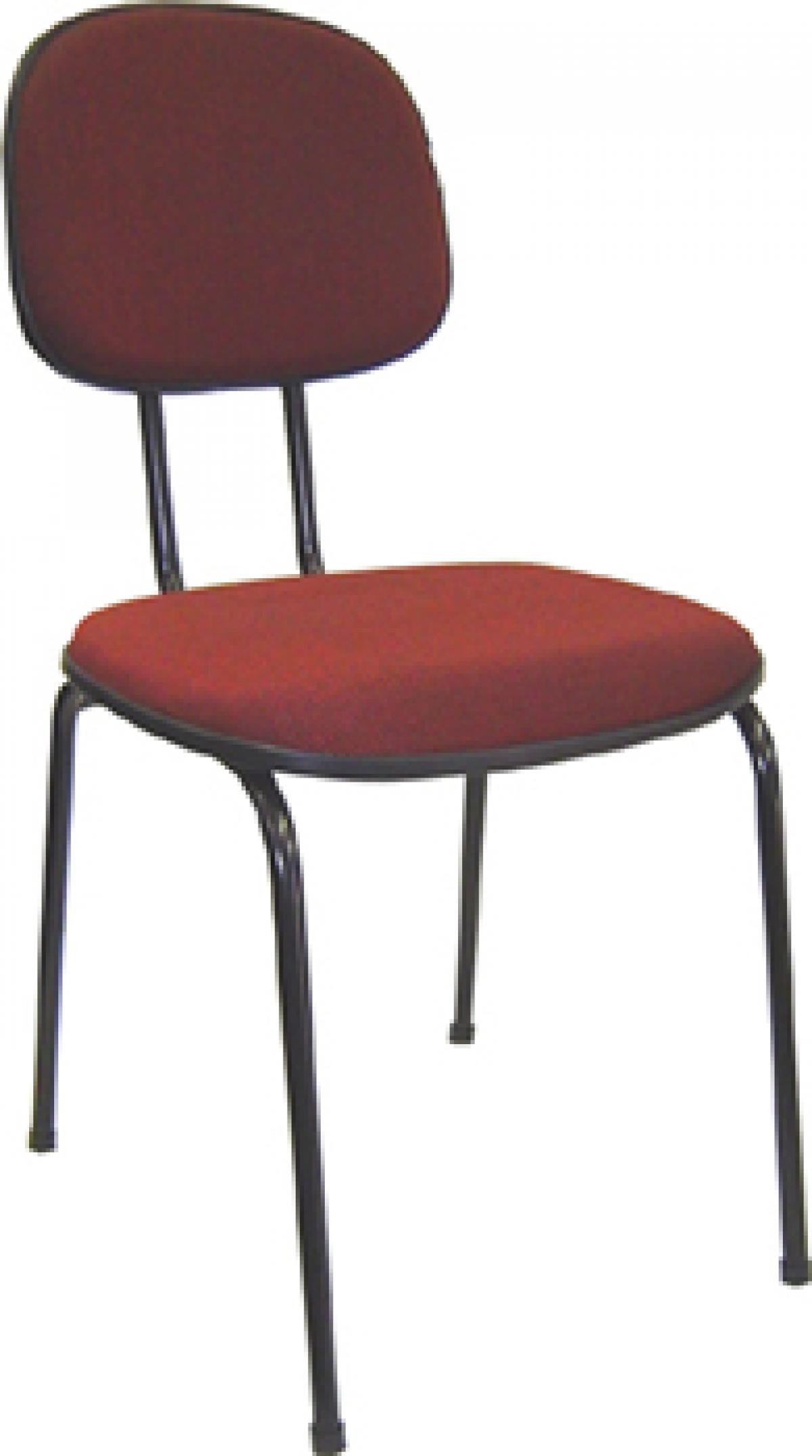 CAD - 01 Cadeira Para Escritório Secretaria Fixa Estofada Varias Cores