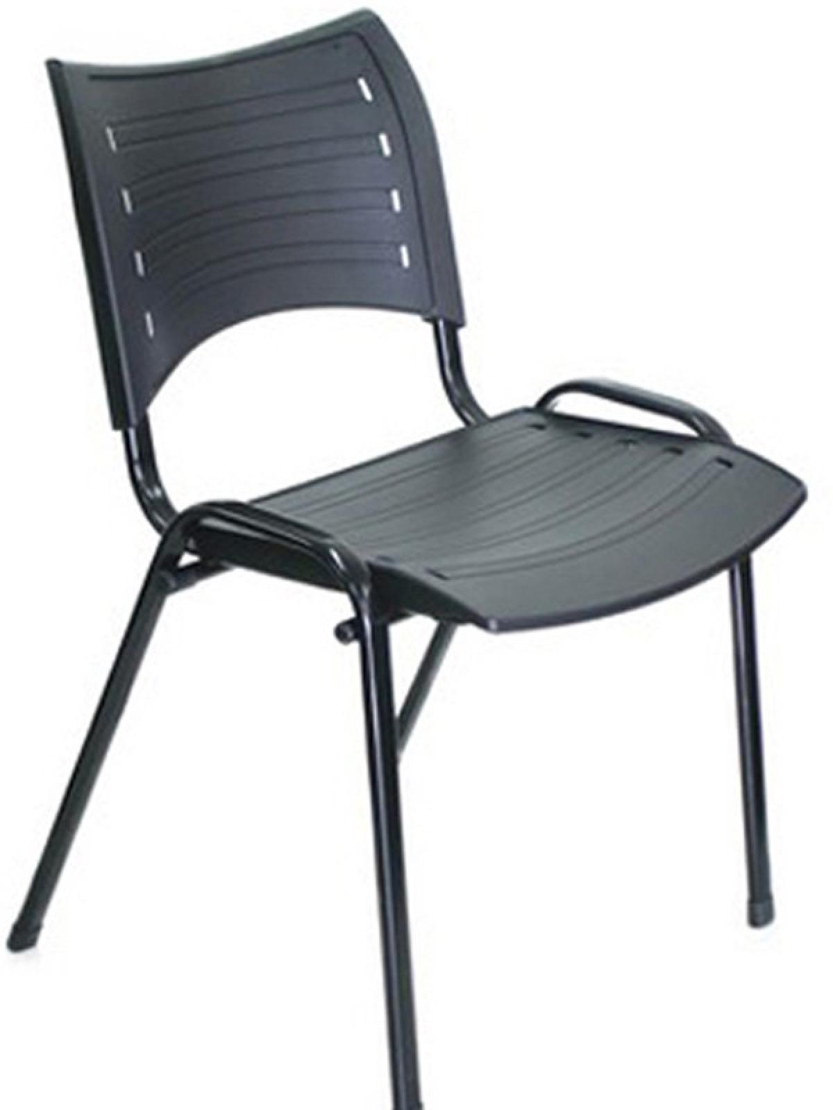 CAD - 02 Cadeira Para Escritório Secretaria Fixa Plastica Varias Cores
