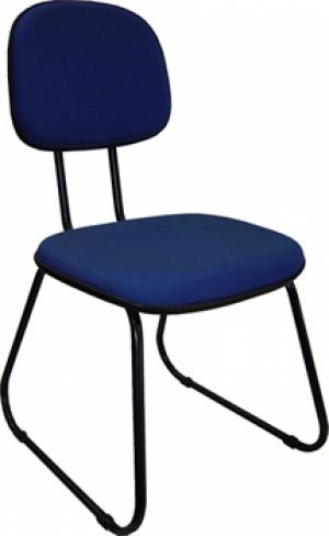 CAD - 03 Cadeira Para Escritório Secretaria Esk L Duplo Estofada Varias Cores